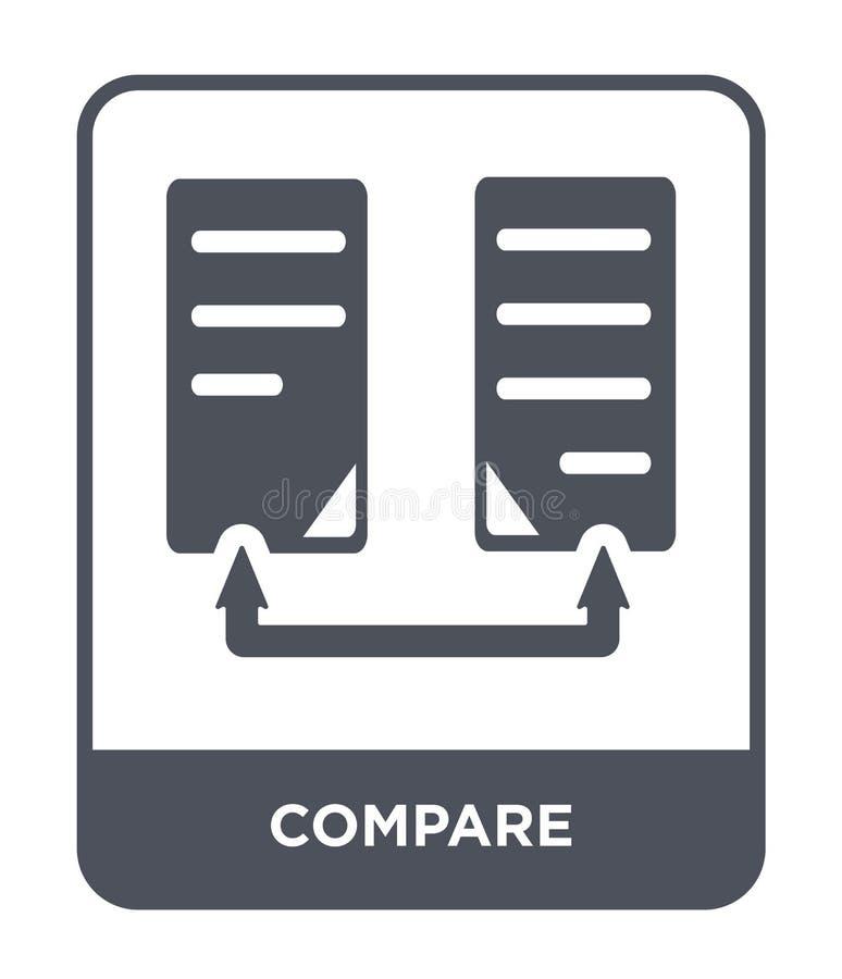 сравните значок в ультрамодном стиле дизайна сравните значок изолированный на белой предпосылке сравните символ значка вектора пр иллюстрация вектора
