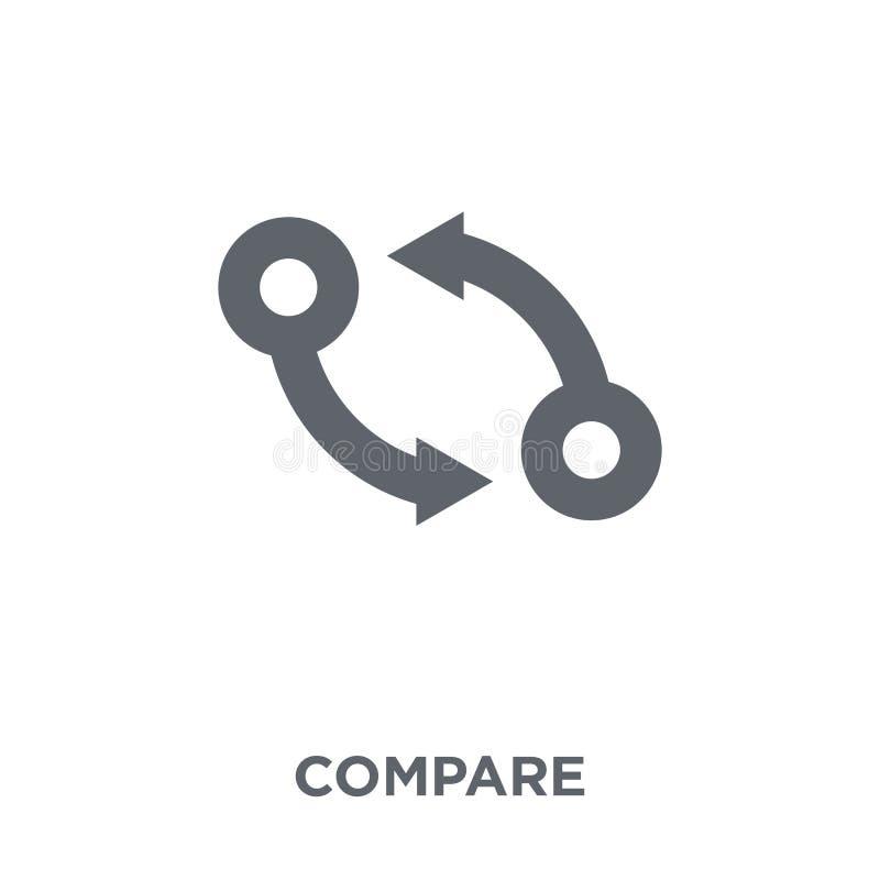 Сравните значок от собрания человеческих ресурсов иллюстрация вектора