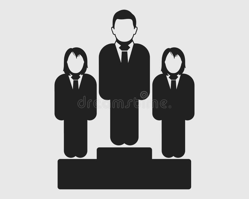 Сравните между мужским и женским значком иллюстрация вектора