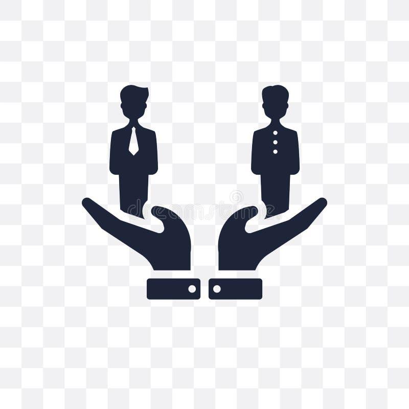 Сравните прозрачный значок Сравните дизайн символа от человеческого resou иллюстрация вектора