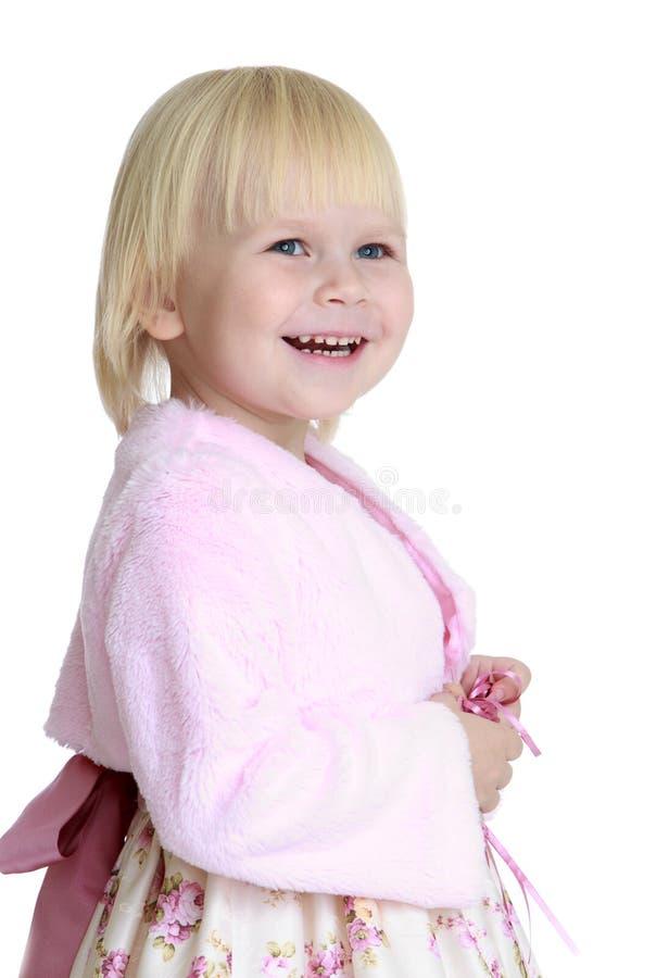 Сравнительная девушка в длинном платье стоковое фото rf