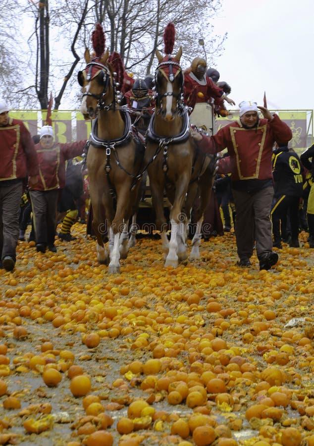 Сражение апельсина стоковые изображения rf