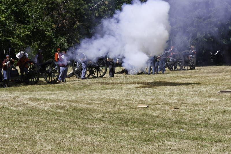 Сражение гражданской войны стоковые фотографии rf