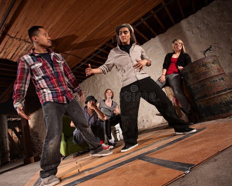 Сражение танцы пролома стоковые изображения rf