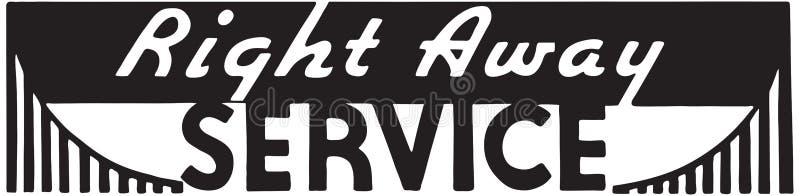 Сразу обслуживание бесплатная иллюстрация