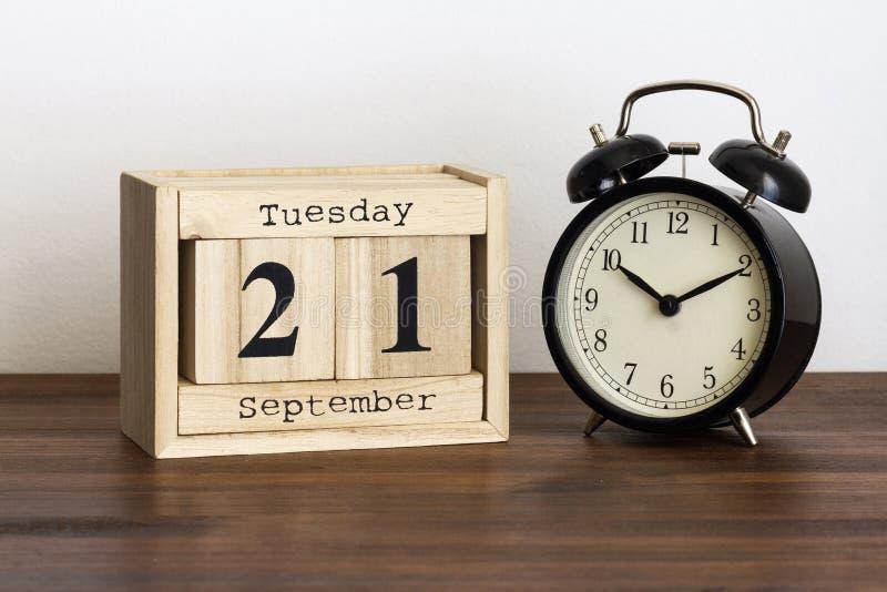 Среда 21-ое сентябрь стоковое изображение