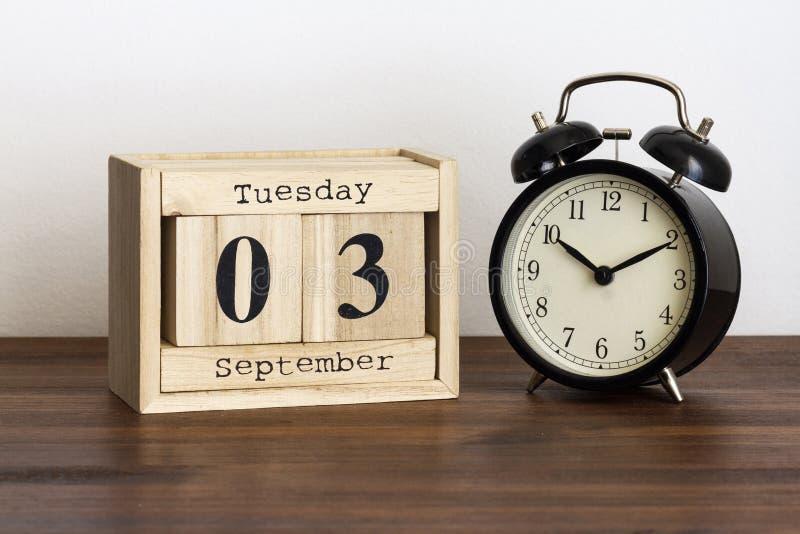 Среда 3-ье сентябрь стоковая фотография
