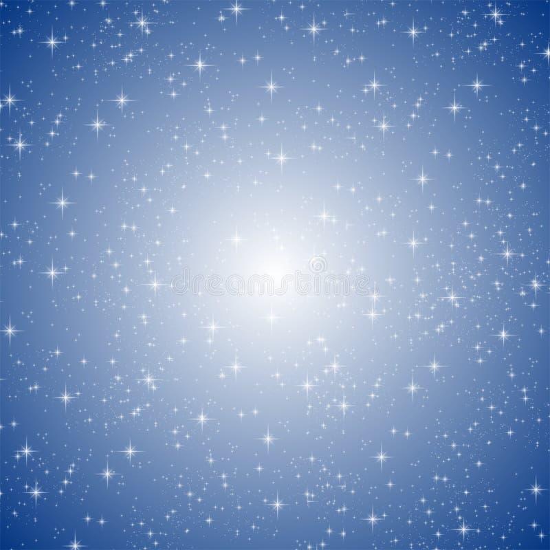 среди голубых sparkles иллюстрация вектора