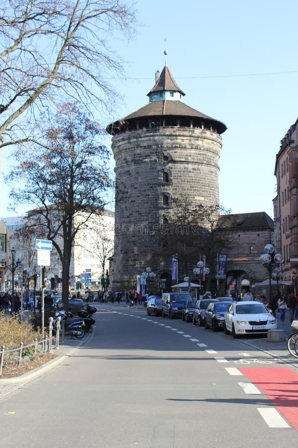 Средневековая башня Sinwell, Нюрнберг, Германия стоковые фото