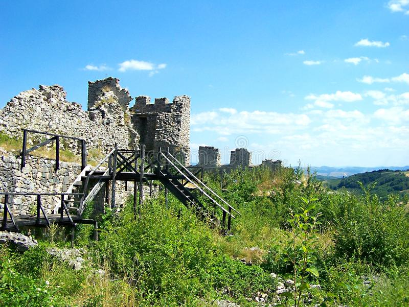 Средневековая крепость Koznik стоковые изображения rf