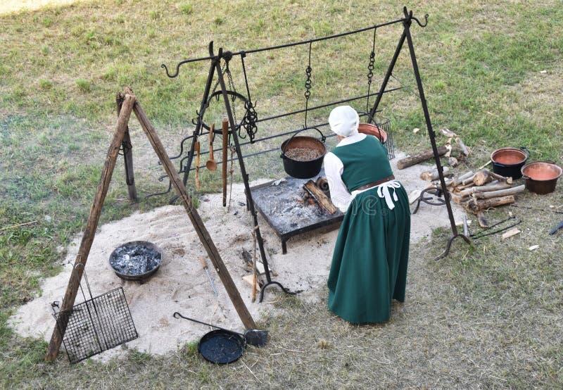 Средневековая кухня 1 стоковое изображение