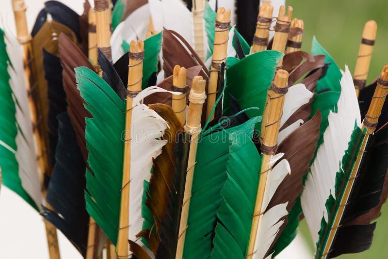 Средневековая стрелка Fletchings стоковые изображения
