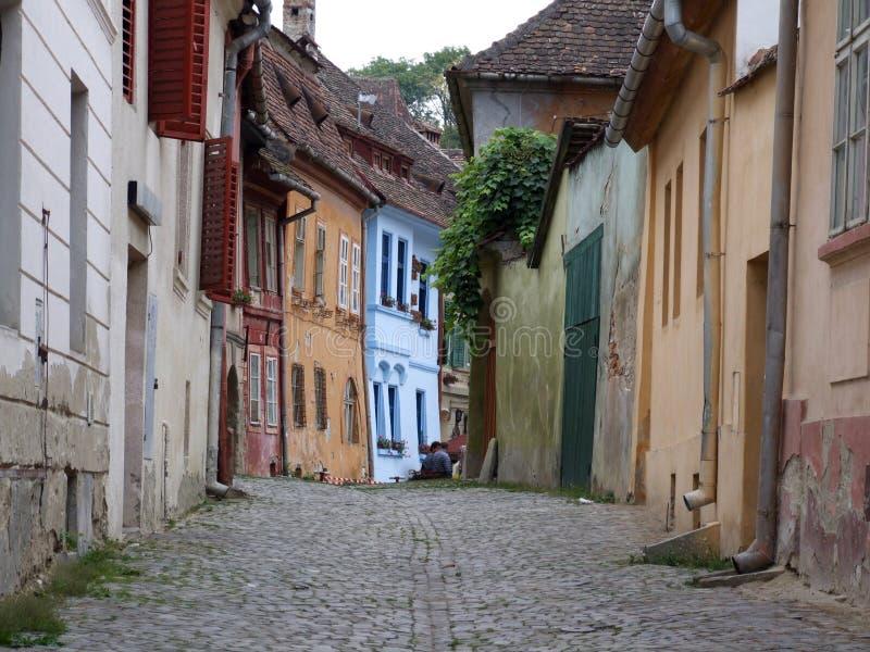 средневековая улица стоковая фотография