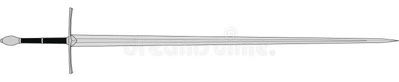 Средневековая шпага солдат иллюстрация штока