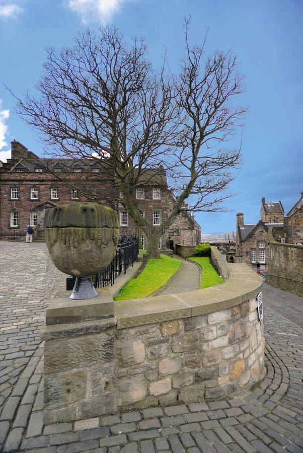 Средневековое зодчество в замоке Эдинбург стоковое изображение rf