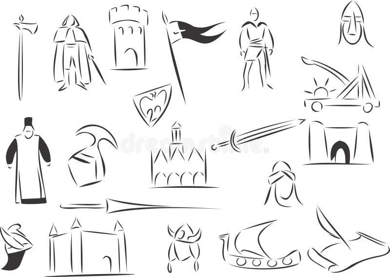 средневеково иллюстрация вектора