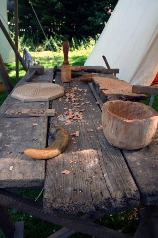 Средневековые инструменты стоковое изображение rf