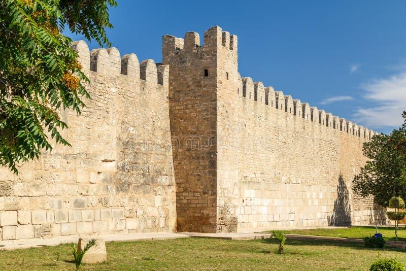 Средневековые стены Sousse medina стоковое фото rf
