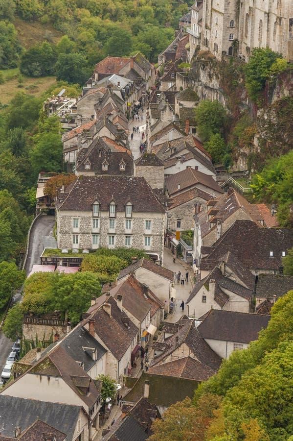 Средневековый городок Rocamadour, франция Стоковые Фото