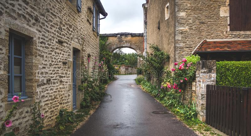 Средневековый городок Rocamadour стоковое фото rf