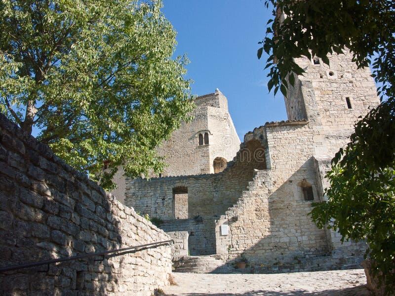 Средневековый город Le Поета Laval Drome Франции стоковые изображения