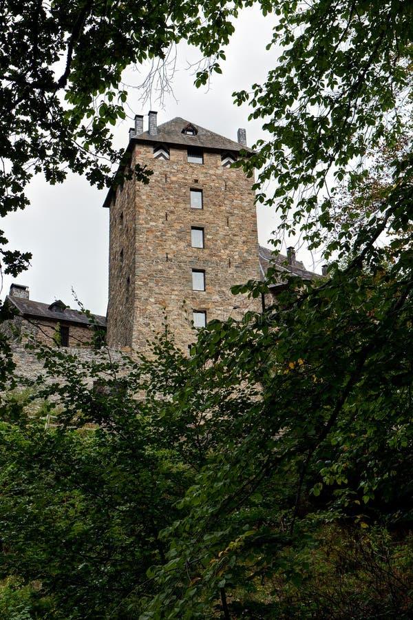 Средневековый замок Бельгия Reinhardstein стоковое изображение rf