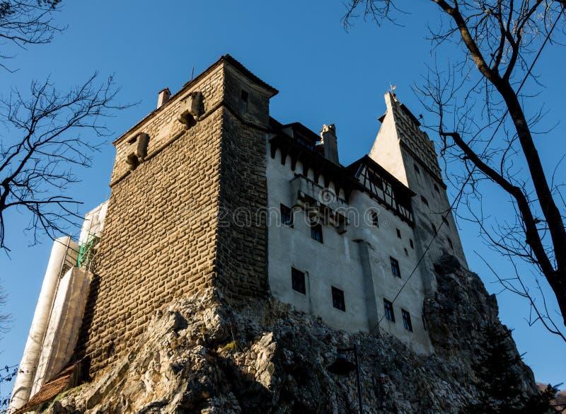 Средневековый замок замка ` s Дракула отрубей, Brasov, Трансильвании, Румынии стоковые изображения