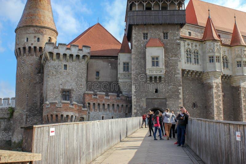 Средневековый замок Corvin стоковое изображение rf