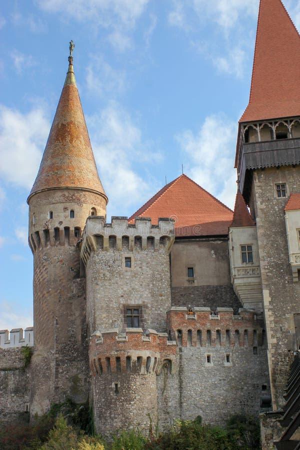Средневековый замок Corvin стоковое фото