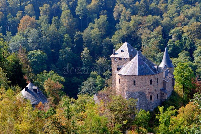 Средневековый замок Eupen Бельгия Reinhardstein стоковое фото rf