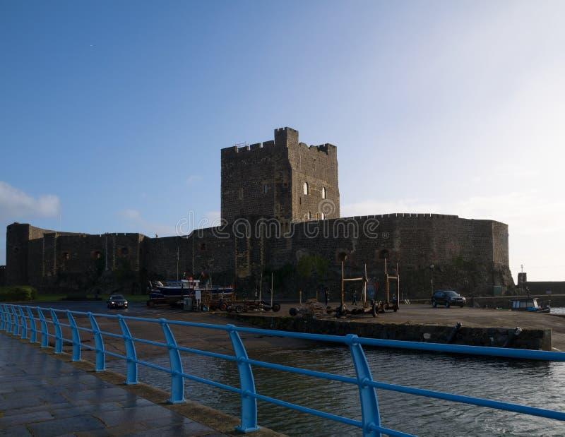 Средневековый нормандский замок стоковое изображение rf