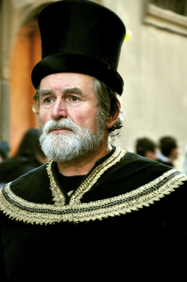 Средневековый парад в Италии стоковые изображения