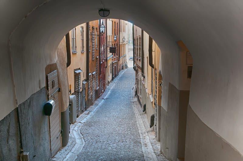 Средневековый переулок стоковая фотография rf