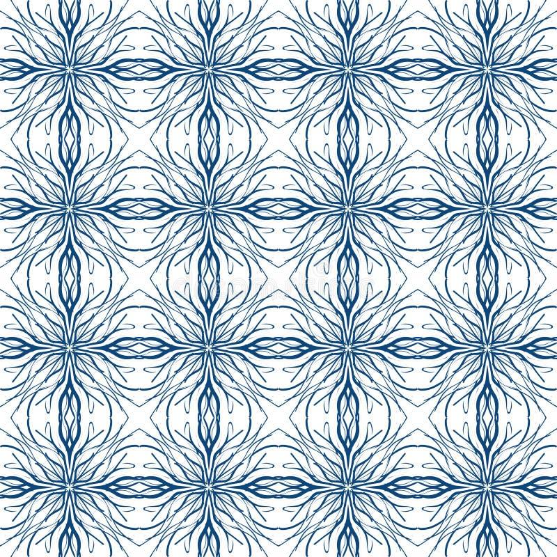 Среднеземноморская безшовная картина вектора бесплатная иллюстрация