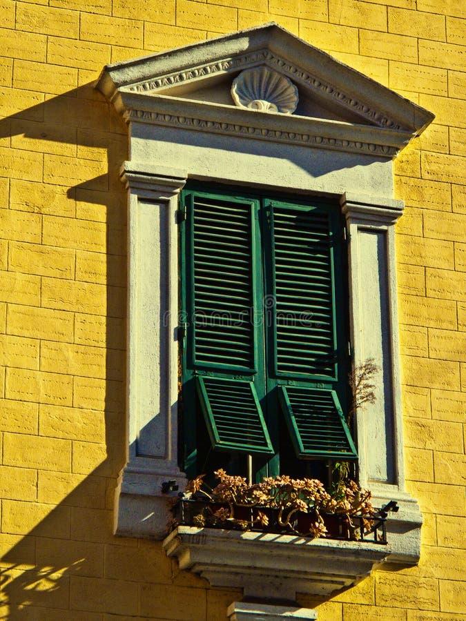среднеземноморское окно Стоковая Фотография