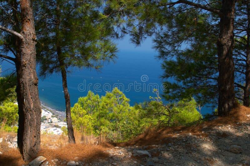 Среднеземноморской ландшафт Греция стоковые изображения rf