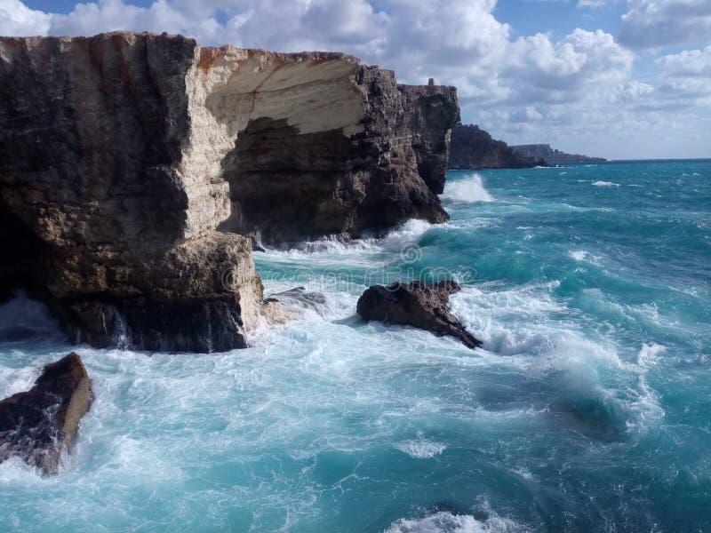 Среднеземноморской остров побережья Мальты стоковые фото