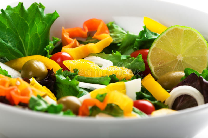 среднеземноморской салат стоковая фотография