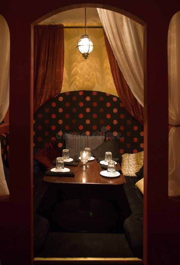среднеземноморской тип ресторана стоковые фотографии rf