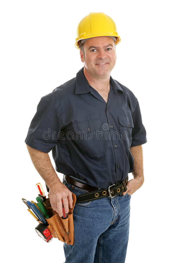 средний рабочий-строитель стоковая фотография rf