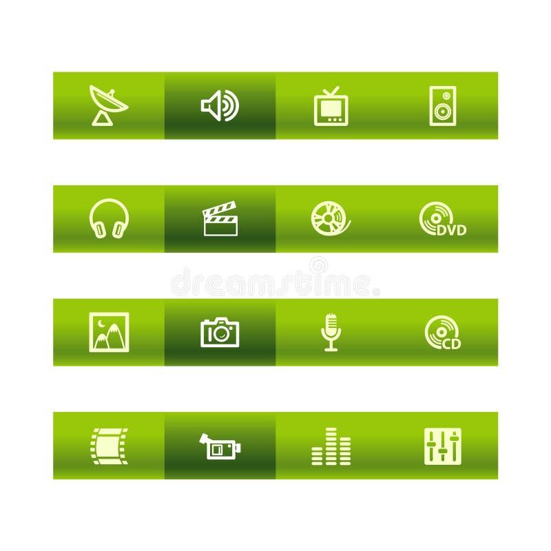 средства икон штанги зеленые иллюстрация штока