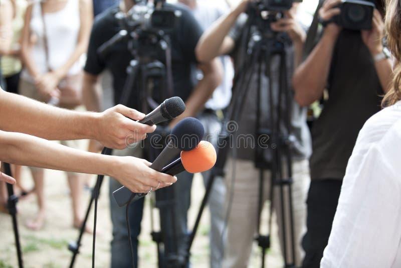 средства интервью стоковые изображения
