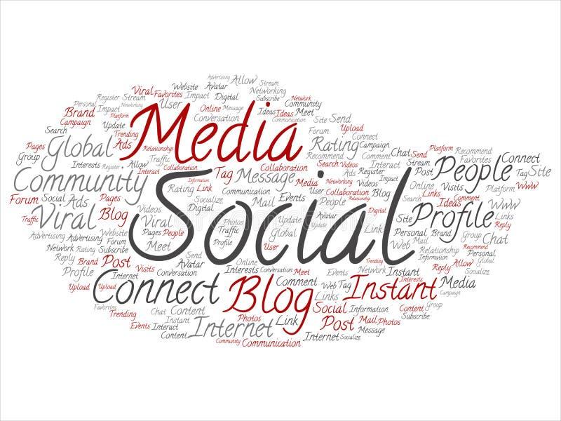 Средства массовой информации сеть вектора социальные или технология связи выходя на рынок иллюстрация вектора