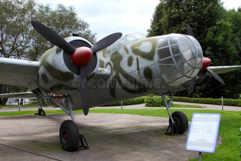 Средство арены - бомбардировщик Кавасаки Ki-48 Япония ряда на землях o стоковые изображения