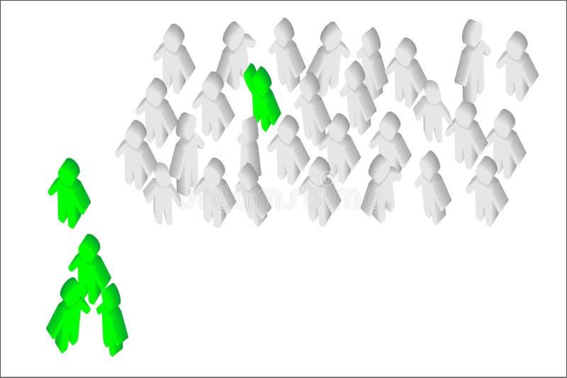 Средство людей стоковое изображение rf