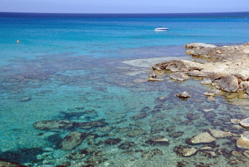 Средиземное море, Кипр стоковая фотография rf