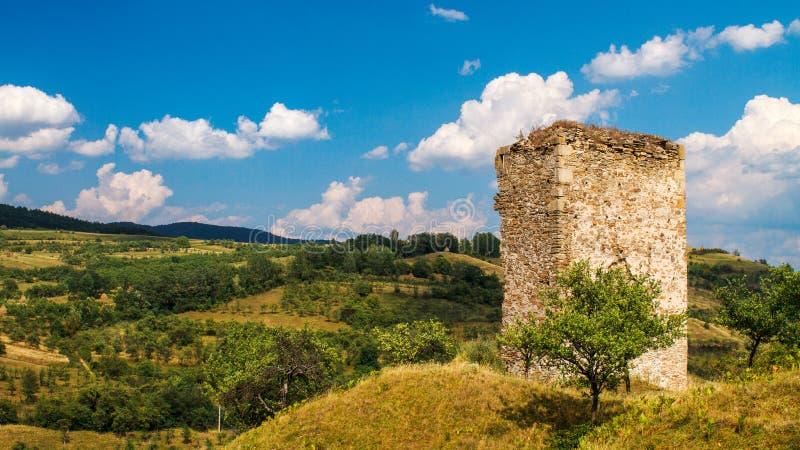 Средневековая башня стоковые фотографии rf