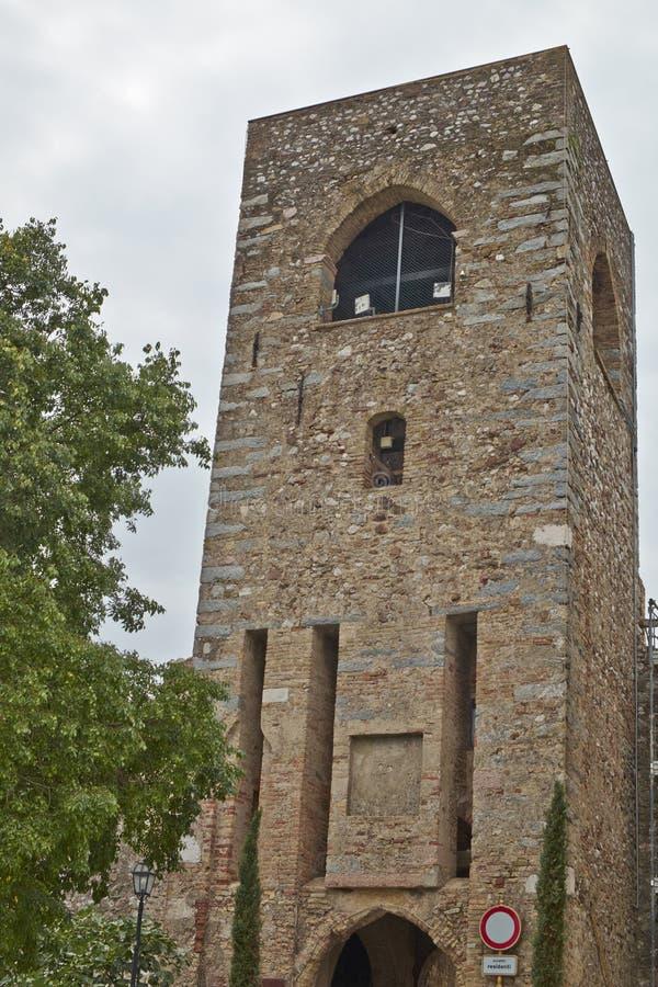 Средневековая башня стоковая фотография rf