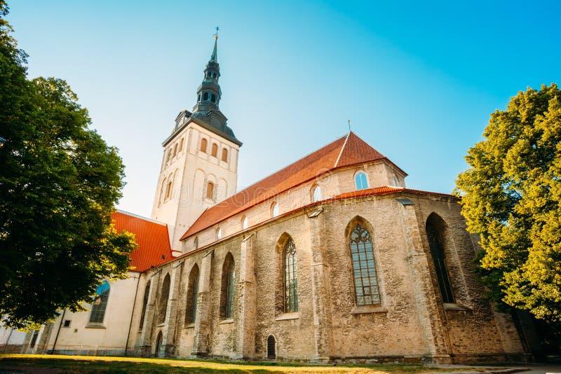 Средневековая бывшая церковь St Nicholas в Таллине, Эстонии стоковая фотография rf