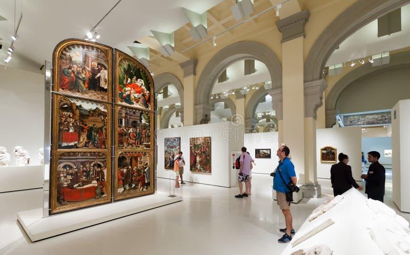 Средневековая готическая зала искусства стоковая фотография